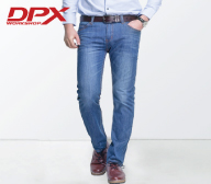 DPX cotton straight jeans male summer thin color all-match business casual men's trousers